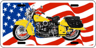 USA Flag with Motorcycle