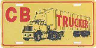 CB Trucker License Plates