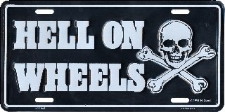 Hell On Wheels License Plates