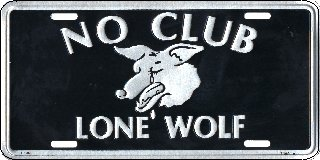No Club Lone Wolf License Plates