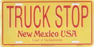 New Mexico Truck Stop License Plates