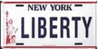 New York Liberty License Plates