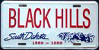 South Dakota Black Hills License Plates