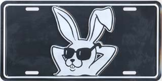 Cool Bunny License Plates