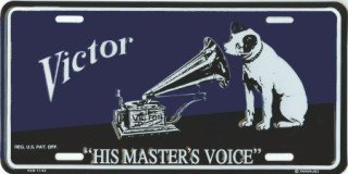 Victor His Master's Voice License Plates