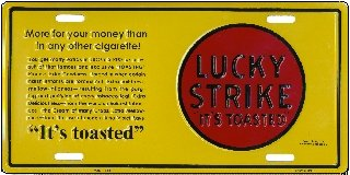 Lucky Strike License Plates