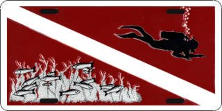 Diver's Flag License Plates