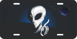 Alien License Plates