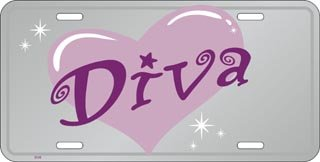Diva License Plates